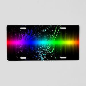 Rainbow Soundwave Aluminum License Plate