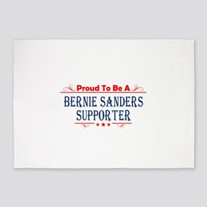 Proud To Be A Bernie Sanders Supporter 5'x7'Area R