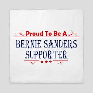 Proud To Be A Bernie Sanders Supporter Queen Duvet