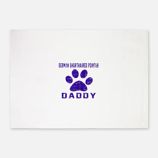 German Shorthaired Pointer Daddy De 5'x7'Area Rug