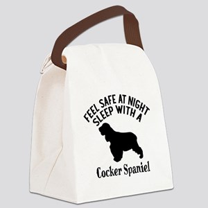 Sleep With Cocker Spaniel Dog Des Canvas Lunch Bag