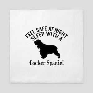 Sleep With Cocker Spaniel Dog Designs Queen Duvet