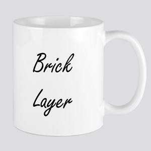 Brick Layer Artistic Job Design Mugs