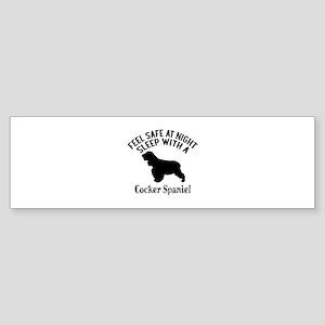 Sleep With Cocker Spaniel Dog Des Sticker (Bumper)