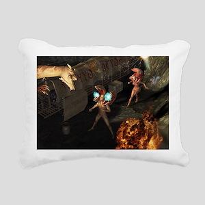 The attack Rectangular Canvas Pillow