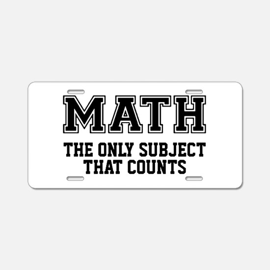 Unique Math Aluminum License Plate