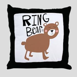ring bear-er Throw Pillow
