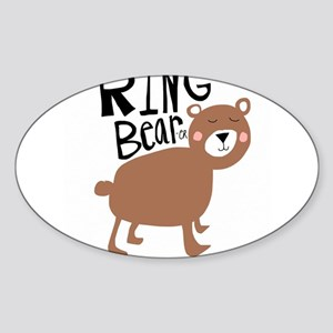 ring bear-er Sticker (Oval)