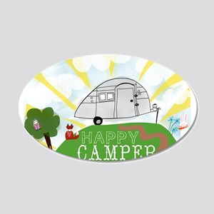 Happy Camper 20x12 Oval Wall Decal