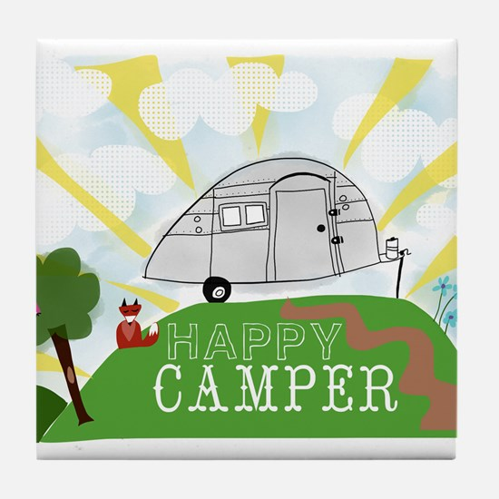Happy Camper Tile Coaster