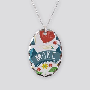 I love you more Necklace Oval Charm