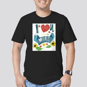 I love you more Men's Fitted T-Shirt (dark)
