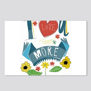 I love you more Postcards (Package of 8)