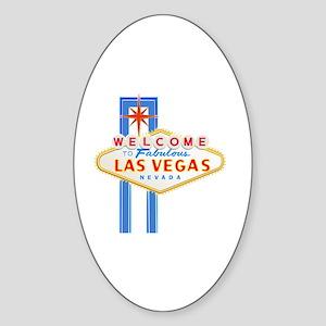 LAS VEGAS GLOW Sticker (Oval)