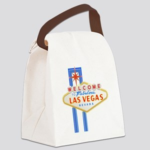 LAS VEGAS GLOW Canvas Lunch Bag