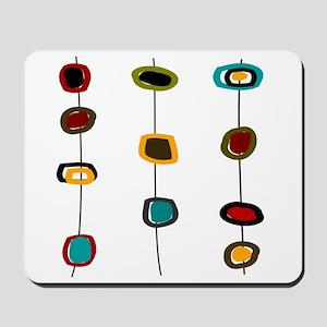Mid-Century Art Circles Mousepad