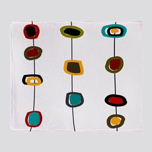 Mid-Century Art Circles Throw Blanket