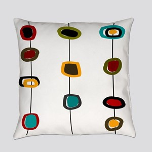 Mid-Century Art Circles Everyday Pillow