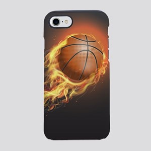 Flaming Basketball iPhone 8/7 Tough Case