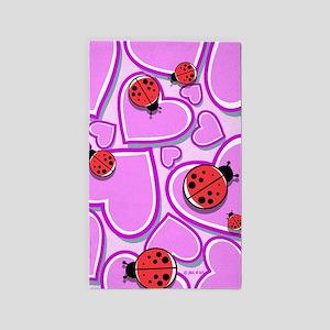 Ladybugs Area Rug