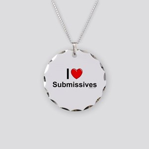 Submissives Necklace Circle Charm