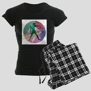 abstract libra Women's Dark Pajamas
