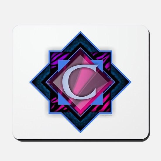 Classy Brilliant Monogram C Mousepad