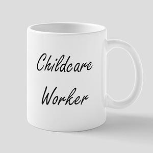 Childcare Worker Artistic Job Design Mugs