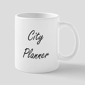City Planner Artistic Job Design Mugs