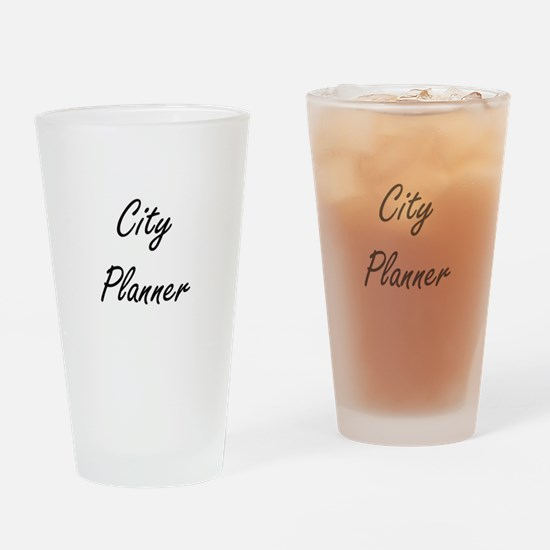City Planner Artistic Job Design Drinking Glass