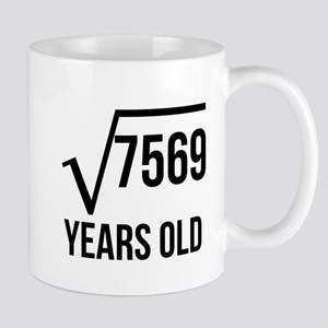 87 Years Old Square Root Mugs