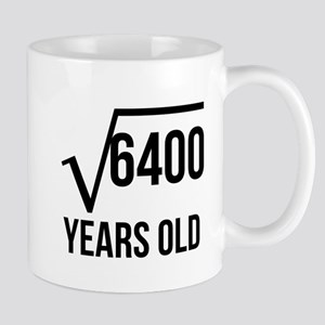 80 Years Old Square Root Mugs