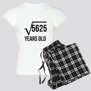 75 Years Old Square Root Pajamas