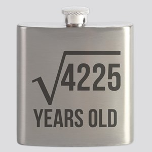65 Years Old Square Root Flask