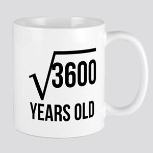 60 Years Old Square Root Mugs