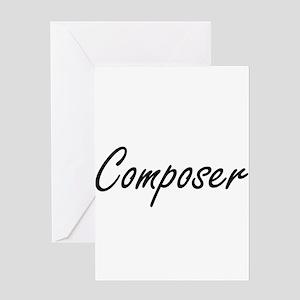 Composer Artistic Job Design Greeting Cards