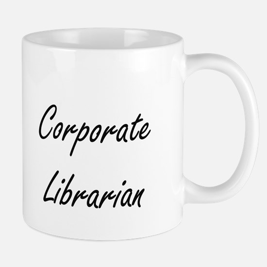 Corporate Librarian Artistic Job Design Mugs