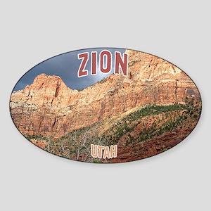 Zion National Park Oval Sticker