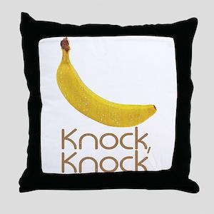 Banana Knock Knock Throw Pillow