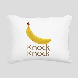 Banana Knock Knock Rectangular Canvas Pillow