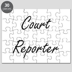 Court Reporter Artistic Job Design Puzzle
