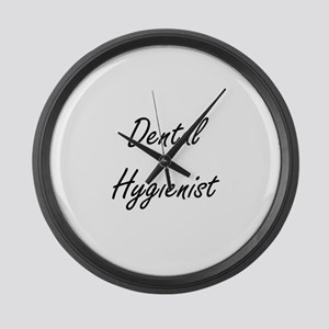 Dental Hygienist Artistic Job Des Large Wall Clock