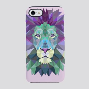 Triangle Colorful Lion Head iPhone 8/7 Tough Case