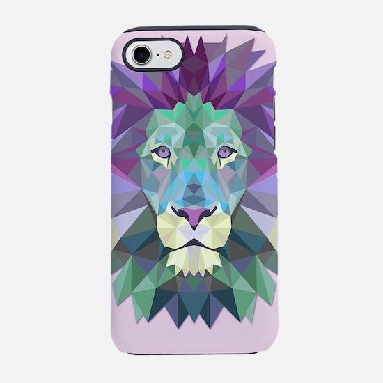 Triangle Colorful Lion Head iPhone 8/7 Tough Case