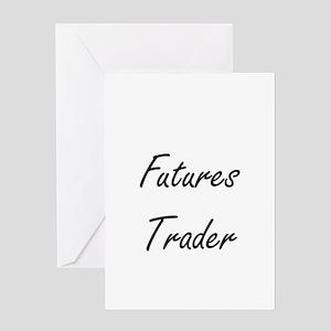 Futures Trader Artistic Job Design Greeting Cards