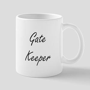 Gate Keeper Artistic Job Design Mugs