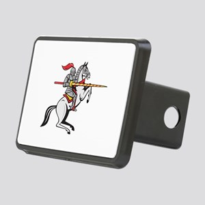 Knight Lance Steed Prancing Isolated Cartoon Hitch