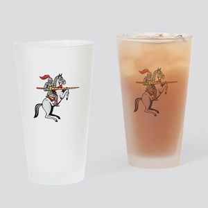 Knight Lance Steed Prancing Isolated Cartoon Drink