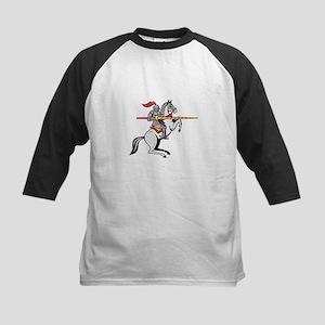 Knight Lance Steed Prancing Isolated Cartoon Baseb
