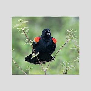 Red-Winged Blackbird Throw Blanket